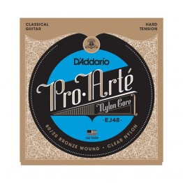 D'Addario EJ48 80/20 Bronze Pro-Arté Nylon, Hard Tension