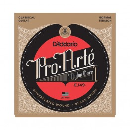 D'Addario EJ49 Pro-Arté Black Nylon, Normal Tension