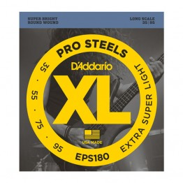 D'Addario EPS180 ProSteels Bass, Ex-Super Light, 35-95, Long Scale
