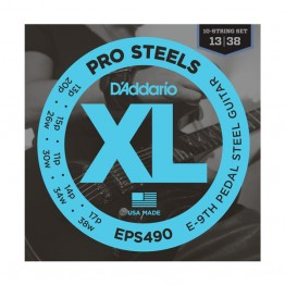 D'Addario EPS490 Pedal Steel Strings, E-9th, 13-38