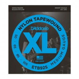 D'Addario ETB92S Tapewound Bass, Medium, 50-105, Short Scale