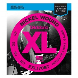 D'Addario EXL170BT Nickel Wound, Balanced Tension Regular Lt, 45-107