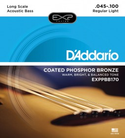 D'Addario EXPPBB170 Coated Phosphor Bronze Long Scale, 45-100