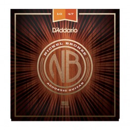 D'Addario NB1047 Nickel Bronze Acoustic, Extra Light, 10-47