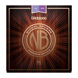 D'Addario NB1152 Nickel Bronze Acoustic, Custom Light, 11-52