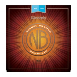 D'Addario NBM1038 Nickel Bronze Mandolin Set, Light, 11-40