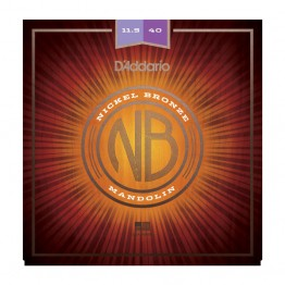 D'Addario NBM11540 Nickel Bronze Mandolin Set, Light, 11.5-40