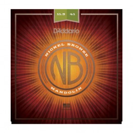 D'Addario NBM11541 Nickel Bronze Mandolin Set, Medium-Heavy, 11.5-41