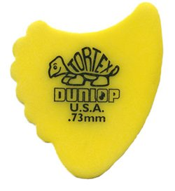 Dunop 414R.73 Tortex Fin Picks, .73mm, 72 Pack