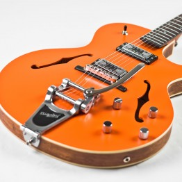 The Loar LH-306T Cutaway Archtop Guitar w/Bigsby, Orange