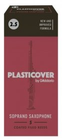Plasticover by D'Addario Soprano Saxophone Reeds 2.5, 5 pack