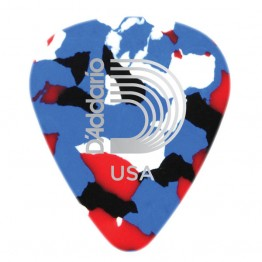 D'Addario 1CMC2-10 Multi-Color Celluloid Picks, 10 pack, Light