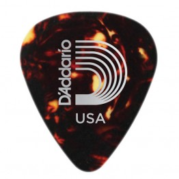 D'Addario 1CSH7-100 Shell-Color Celluloid Picks, 100 pk, Ex-Hvy