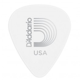 D'Addario 1CWH6-10 White-Color Celluloid Guitar Picks, 10 pack, Heavy