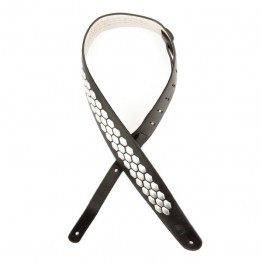 D'Addario L25S1503 Hex Studded Guitar Strap