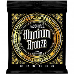 Ernie Ball 2564 Aluminum Bronze Acoustic Strings, Medium, 13-56