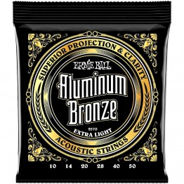 Ernie Ball 2570 Aluminum Bronze Acoustic Strings, Extra Light, 10-50