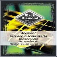 Black Diamond N754M Acoustic Silver Plated Wound, 13-56