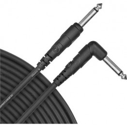 D'Addario Classic Series Instrument Cable, Right Angle Plug, 20 feet