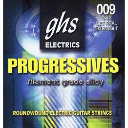 GHS PRXL Progressives Roundwound Extra Light Electric Guitar, 9-42