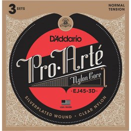 D'Addario EJ45 Pro-Arté Nylon, Normal Tension, 3 pack