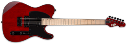 ESP LTD TE-200 Electric Guitar with Maple Neck, See Thru Black Cherry