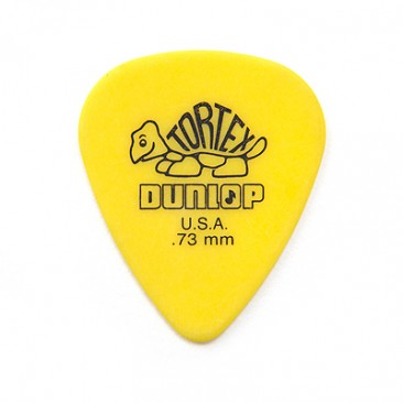 Dunlop 418P.73 Tortex Standard .73mm Yellow Guitar Picks 12-Pack